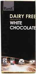 "Organic Dairy-Free ""White"" Chocolate Bar by Plamil"