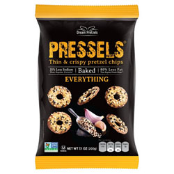 "Pressels ""Everything"" Thin & Crispy Baked Pretzel Chips by Dream Pretzels THUMBNAIL"