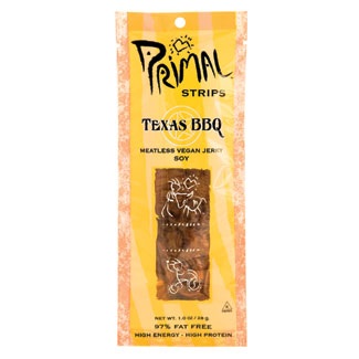 Primal Strips Meatless Vegan Jerky - Texas BBQ LARGE