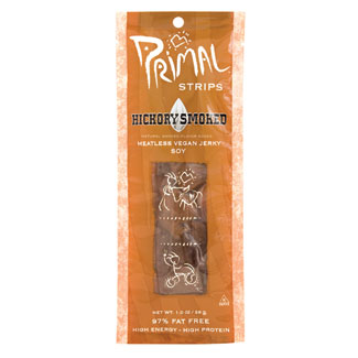 Primal Strips Meatless Vegan Jerky - Hickory Smoked LARGE