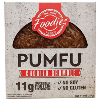 Pumfu Chorizo Crumbles by Foodies Vegan MAIN
