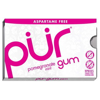 PUR Chewing Gum Pack - Pomegranate Mint MAIN