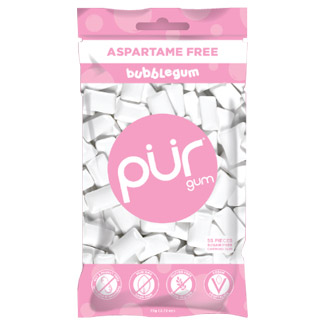PUR Chewing Gum 55 Piece Bag - Bubblegum MAIN