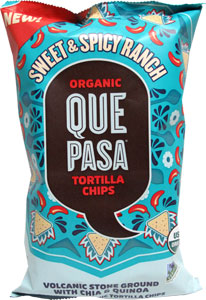 Que Pasa Organic Vegan Sweet & Spicy Ranch Tortilla Chips