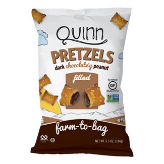 Quinn Dark Chocolate Gluten-Free Peanut Butter Filled Pretzels MAIN