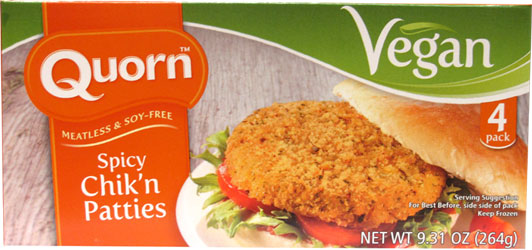 Quorn Vegan Spicy Chik'n Patties