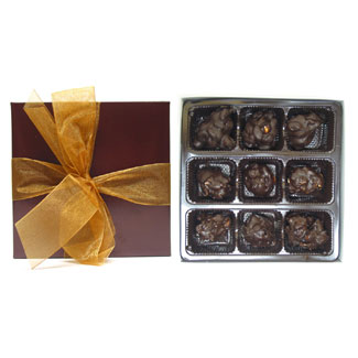 9 Piece Chocolate & Nut Clusters Collection by Rose City MAIN