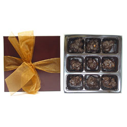 9 Piece Chocolate & Nut Clusters Collection by Rose City THUMBNAIL