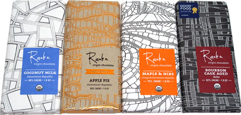 Raaka Organic Virgin Chocolate Bars