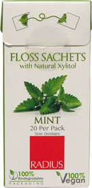 Vegan Floss Sachets with Xylitol by Radius