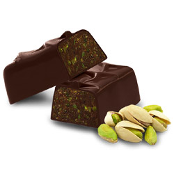Organic Raw Dark Pistachio Truffle Bar by Raway THUMBNAIL