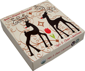 Reindeer Box Organic Nuts & Chews Assortment by Sjaaks