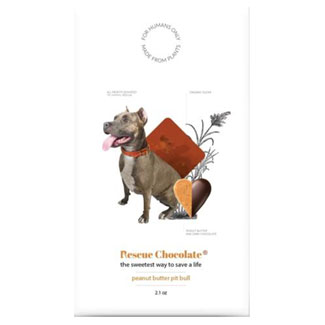 Peanut Butter Pit Bull Truffle Chocolate Bar by Rescue Chocolate LARGE