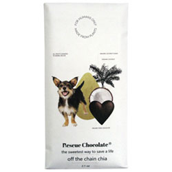 Rescue Chocolate Off the Chain Chia Dark Chocolate Bar THUMBNAIL