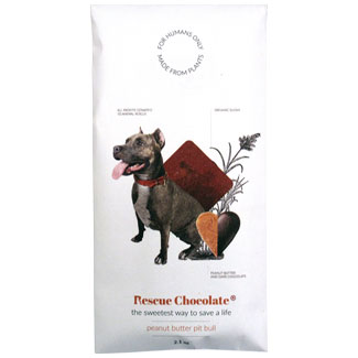 Peanut Butter Pit Bull Truffle Chocolate Bar by Rescue Chocolate MAIN