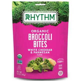Organic Broccoli Bites by Rhythm Superfoods - White Cheddar & Parmesan MAIN