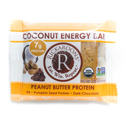 Rickaroons Organic Coconut Energy Bars - Peanut Butter Protein THUMBNAIL