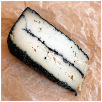 RIND Aged French-Style Plant-Based Cheese - Lapsang, small wedge MAIN