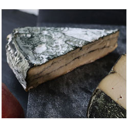 RIND Aged French-Style Plant-Based Cheese - Porcini Bleu, small wedge THUMBNAIL