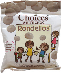 Rondellos Vegan White Chocolate Buttons by Choices