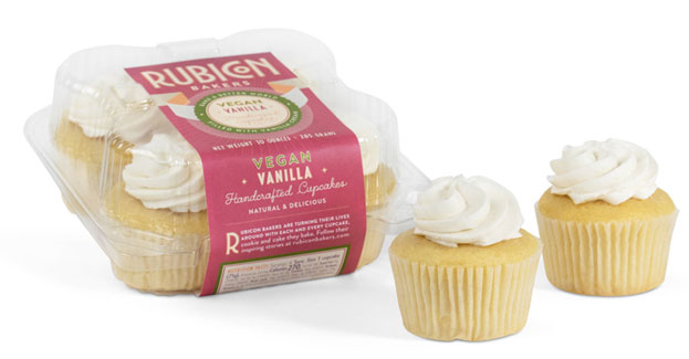 Vegan Vanilla Cupcakes By Rubicon Bakers LARGE View Enlarged Image