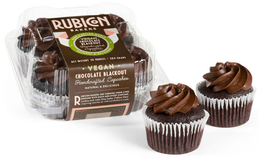 Vegan Chocolate Blackout Cupcakes by Rubicon Bakers