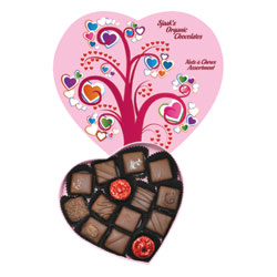Limited Edition Valentine's Box Organic Chocolate Nuts & Chews Assortment by Sjaaks THUMBNAIL