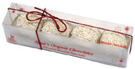 Gift Box of Organic White Chocolate Hazelnut Snowballs by Sjaaks