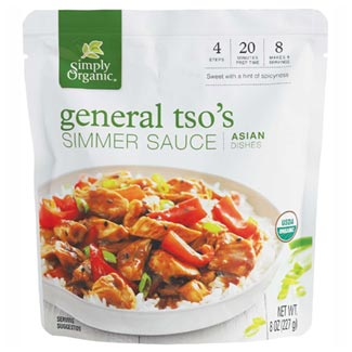 General Tso's Simmer Sauce by Simply Organic MAIN