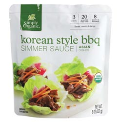 Korean Style BBQ Simmer Sauce by Simply Organic THUMBNAIL
