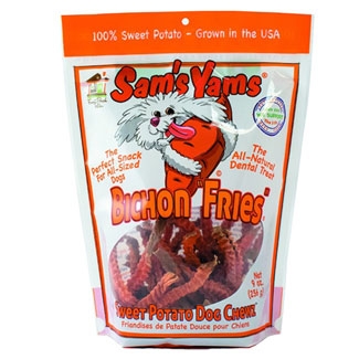Sam's Yams Bichon Fries Dog Chew Treats MAIN