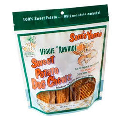 Sam's Yams Veggie Rawhide Sweet Potato Dog Chewz - 5 oz. bag THUMBNAIL