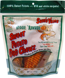 Sam's Yams Veggie Rawhide Sweet Potato Dog Chewz