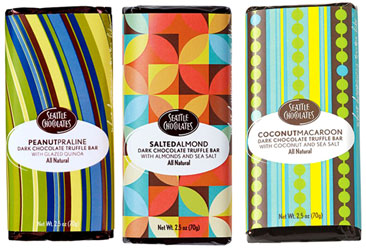 Seattle Chocolates Dark Chocolate Truffle Bars