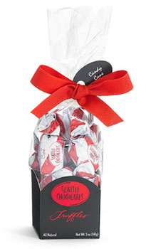 Holiday Bag of Candy Cane Truffles by Seattle Chocolates