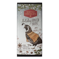 Seattle Chocolate Holiday Spiced Nuts Dark Truffle Bar THUMBNAIL