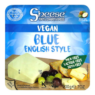 Sheese Vegan English Blue Style Cheese Wedge MAIN