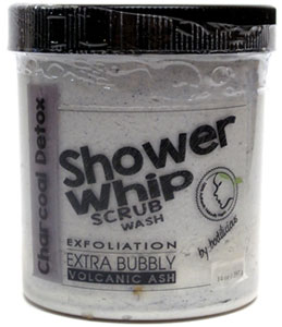 Charcoal Detox Shower Whip Scrub Wash by Bodilicious