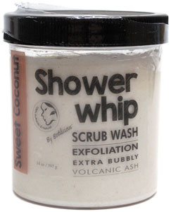 Sweet Coconut Shower Whip Scrub Wash by Bodilicious_LARGE