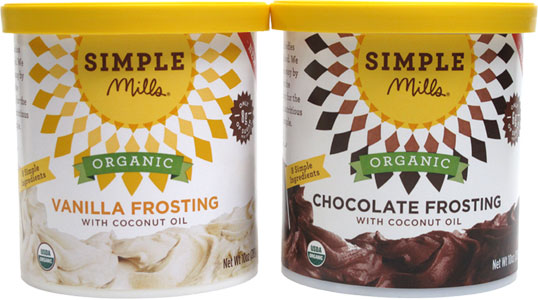Simple Mills Organic Vegan Frostings LARGE