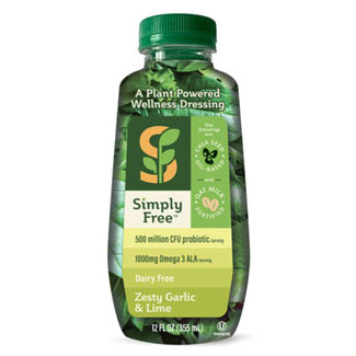 Zesty Garlic & Lime Vegan Dressing by Simply Free LARGE