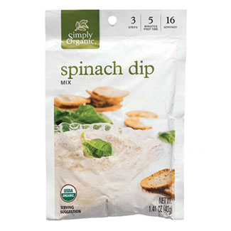 Simply Organic Spinach Dip Mix LARGE