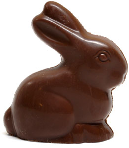 Organic Solid Chocolate Sitting Bunny by Sjaaks