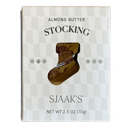 Almond Butter Filled Milk Style Chocolate Holiday Stocking by Sjaaks THUMBNAIL