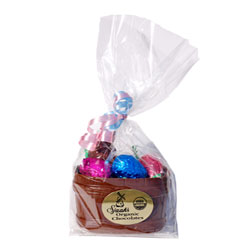 Organic Chocolate Easter Basket with Bunny and Eggs by Sjaaks - Milk Style THUMBNAIL