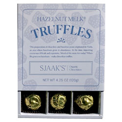 Sjaaks Organic Hazelnut Truffle Box - Milk Style Chocolate THUMBNAIL