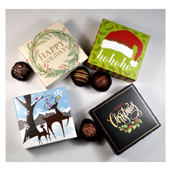 4 pc. Organic Dark Vegan Truffle Assortment Boxes by Sjaaks THUMBNAIL