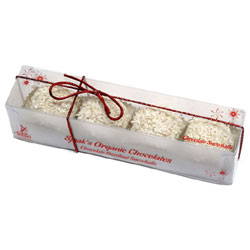 Gift Box of Organic White Chocolate Hazelnut Snowballs by Sjaaks THUMBNAIL