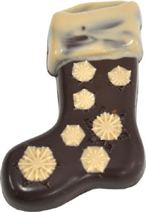 Almond Butter Filled Dark Chocolate Holiday Stocking by Sjaaks