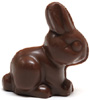 "Organic Almond Butter Filled ""Milk"" Chocolate Mini Bunnies by Sjaaks"